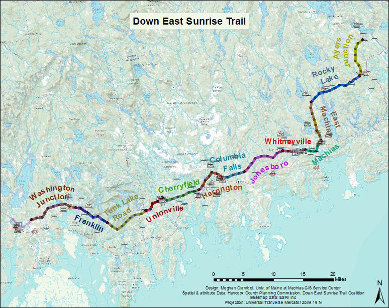 sunrise trail overview map